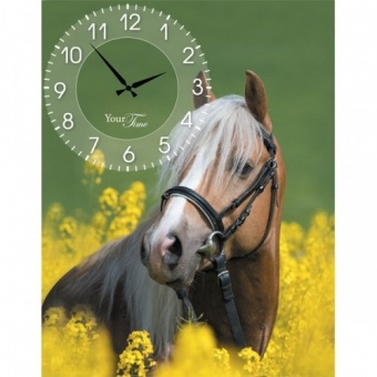 Часы на холсте Лошади (06-201)