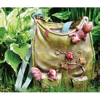 Декоративное кашпо-сумка Белочки
