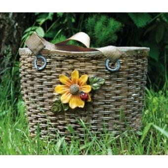 Кашпо для сада Плетеная сумка. (CAD13)