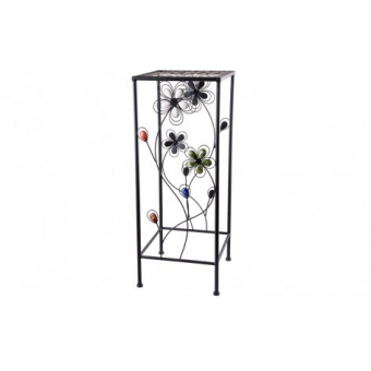 Подставка для растений Каменный цветок квадратная