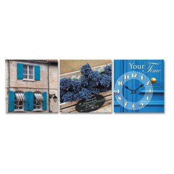 Часы на холсте Букет лаванды (06-319)