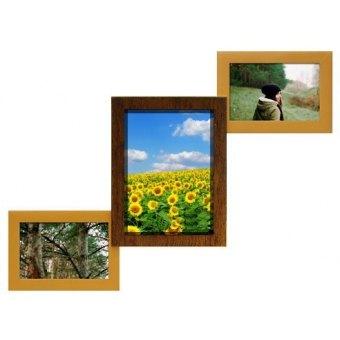 Фоторамка Двойное золото на 3 фотографии (Л-3-ДЗ)