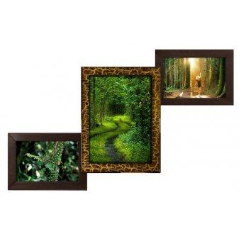 Деревянная фоторамка Лесенка на 3 фото
