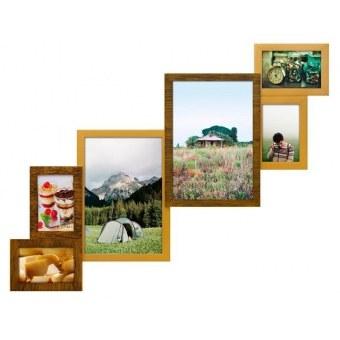 Деревянная мультирамка Лесенка на 6 фотографий