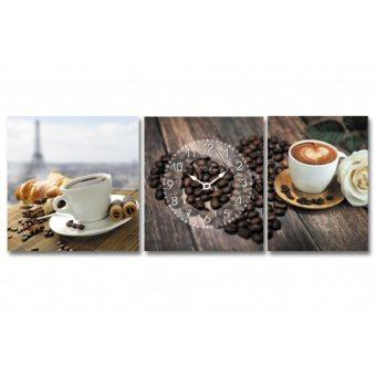 Часы на холсте Любовь к кофе (06-508)