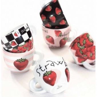 Чашки для эспрессо с блюдцами Fragole, 6 шт. (29726)