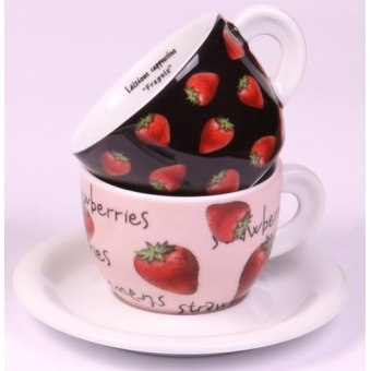 Чашки для капучино с блюдцами Fragole, 2 шт. (29727)