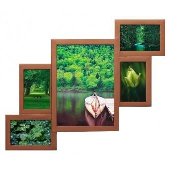 Фоторамка Бронза на 5 фотографий (А4-Бр)