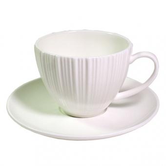 Чашка с блюдцем ELEGANCE WHITE  Fissman (SC-9384.100)