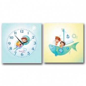 Часы на холсте Морские приключения (06-112)