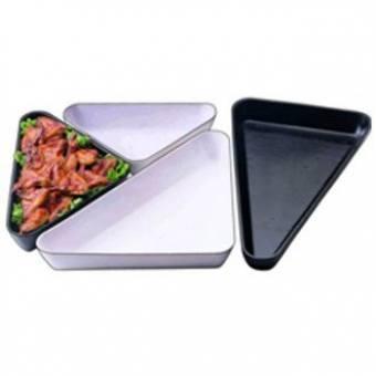 Салатник треугольный черный (SFT 1010-B)