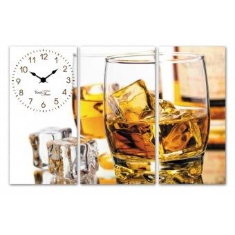 Часы на холсте Виски (06-509)