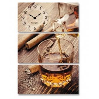 Часы на холсте Виски (06-511)