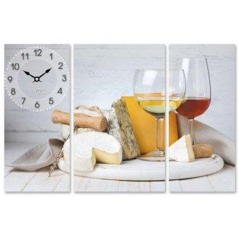 Часы на холсте Белое вино (06-500)