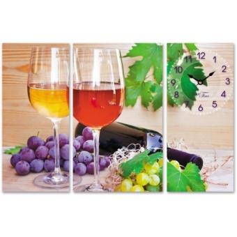 Часы на холсте Вино и виноград (06-501)